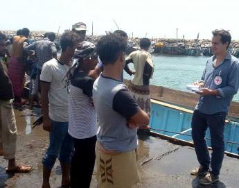 اليمن: اللجنة الدولية تدين بشدة هجوماً على سفينة مدنية،  وتدعو إلى إجراء تحقيق فوري
