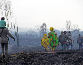 DR Congo: The population of Goma flees a volcano's menace as a major humanitarian crisis looms