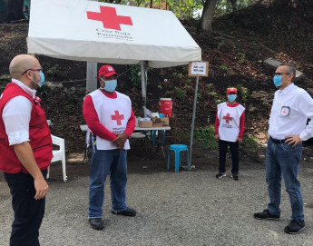 Panama: Red Cross volunteers help with COVID-19 prevention measures