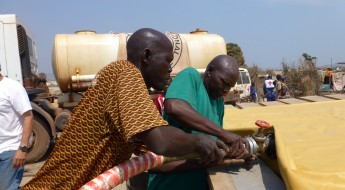 Agua para las personas desplazadas en Bangui