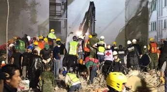 México: terremoto sacude el centro del país. La Cruz Roja implicada en operación de rescate.