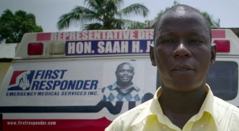 Foday. Ebola survivor and ambulance driver.