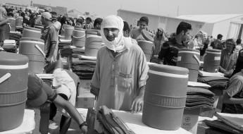 Bildergalerie: Im Irak wird die Verteilung der Hilfe fortgesetzt, da sich weitere Umsiedlungen abzeichnen.
