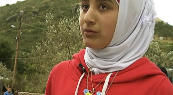 A Syrian teenager gives lessons to refugee children in Lebanon