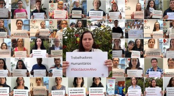 O Movimento da Cruz Vermelha e do Crescente Vermelho está unido: os trabalhadores humanitários #NãoSãoUmAlvo