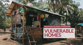 Myanmar: Vulnerable homes in the Pauktaw islands