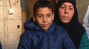 Determinada a ganhar a vida durante o inverno na Síria