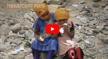 Fighting malnutrition with therapeutic food sourced from India