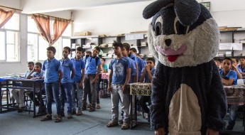 Fun lessons could save lives in Gaza
