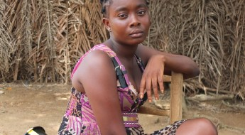 !Famata (18) is Jenneh's oldest daughter and an Ebola survivor.