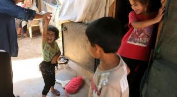 Campamento de refugiados sirios en al-Sahel, Akkar, norte de Líbano.