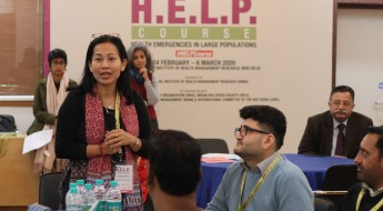 India: HELP course trains professionals to effectively lead an emergency health response