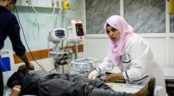 加沙医院克服万难,应对伤员涌入
