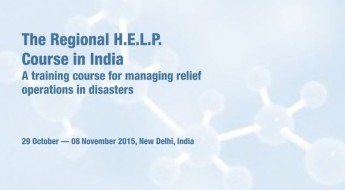 India: Regional course for managing relief operations in disasters