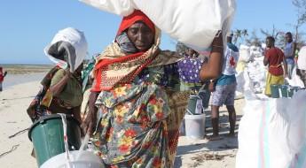 Mozambique : les communautés insulaires sinistrées du cyclone Kenneth reçoivent des secours