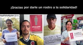 Campaña por los desaparecidos #AquíFaltaAlguien pidió acabar con la indiferencia en Colombia