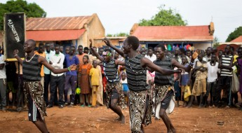 A street play draws attention to protection of health care workers in South Sudan