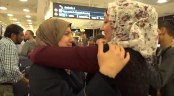Syrian family reunited after being separated by war