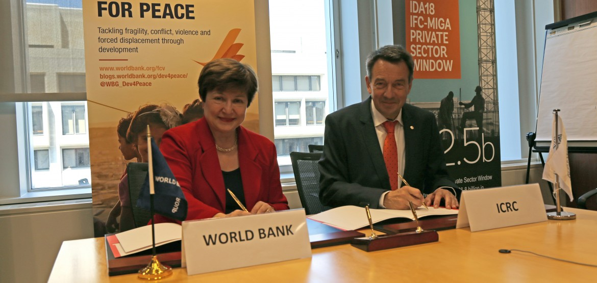 ICRC and World Bank partner to enhance support in fragile and conflict-affected settings