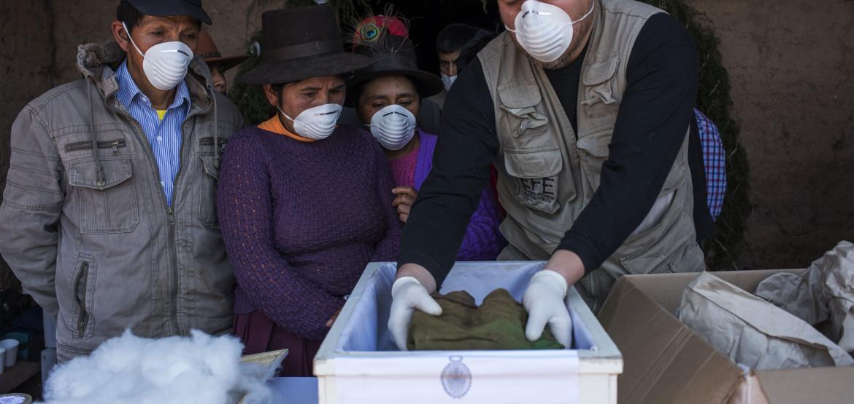 Достойное обращение с телами умерших во время чрезвычайных ситуаций гуманитарного характера