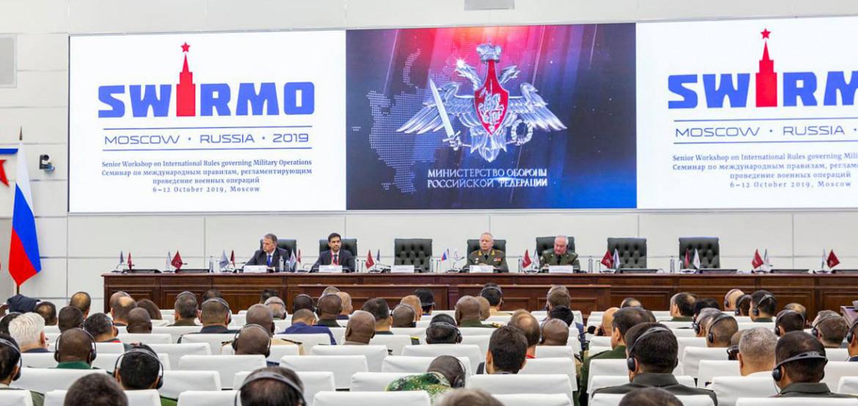 Старшие офицеры из более чем 90 стран соберутся вместе, чтобы обсудить право войны