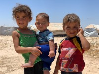 Syria: A camp is filled with children