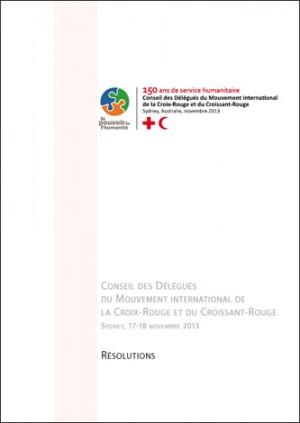 Résolutions du Conseil des Délégués 2013