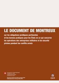 Document de Montreux sur les entreprises militaires et de sécurité privées
