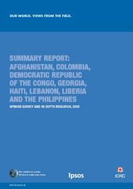 Enquête du CICR : Notre monde. Perspectives du terrain - Résumé