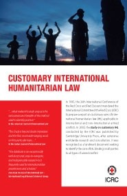 Customary International Humanitarian Law Database (flyer)