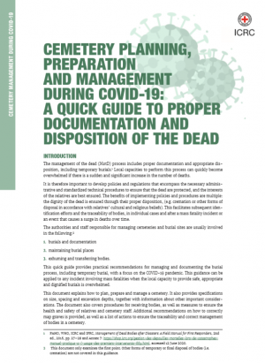 Cemetery Management during COVID-19