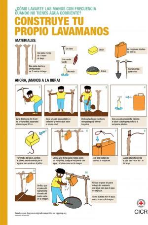 ¿Cómo lavarte las manos con frecuencia cuando no tienes agua corriente? Construye tu propio lavamanos
