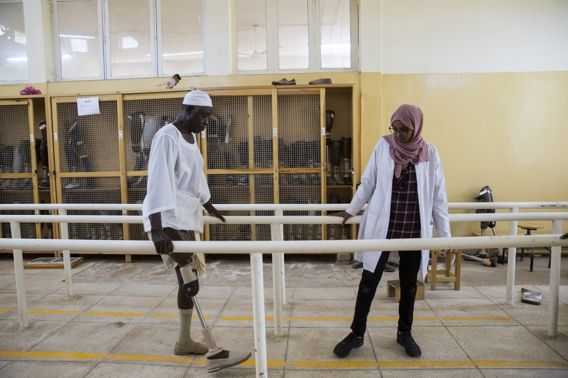 From a physical rehabilitation centre in South Sudan. ICRC