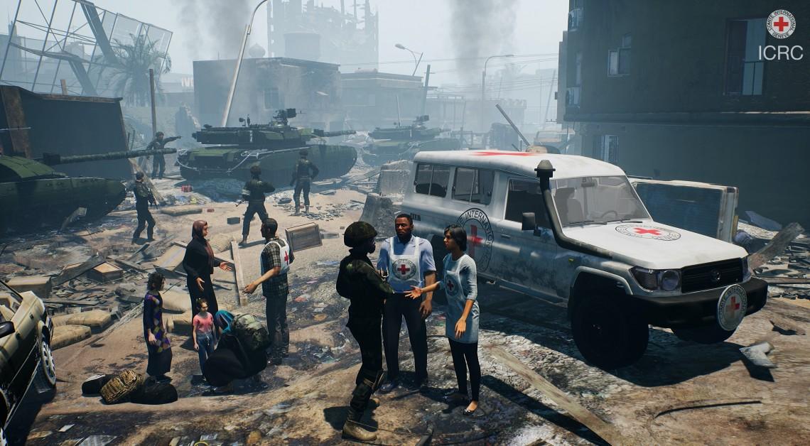 Сцена из VR проекта МККК.