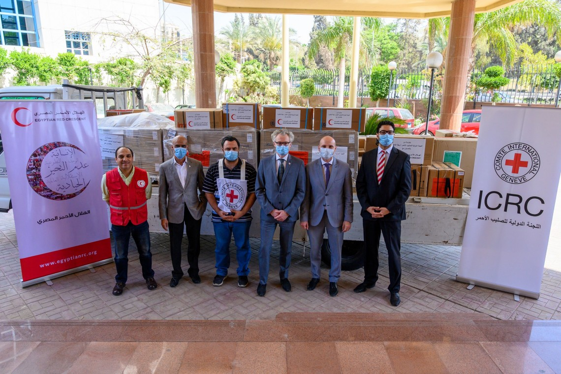 Egypt: ICRC donates medical and protective supplies to North Sinai, Red Crescent amid COVID-19