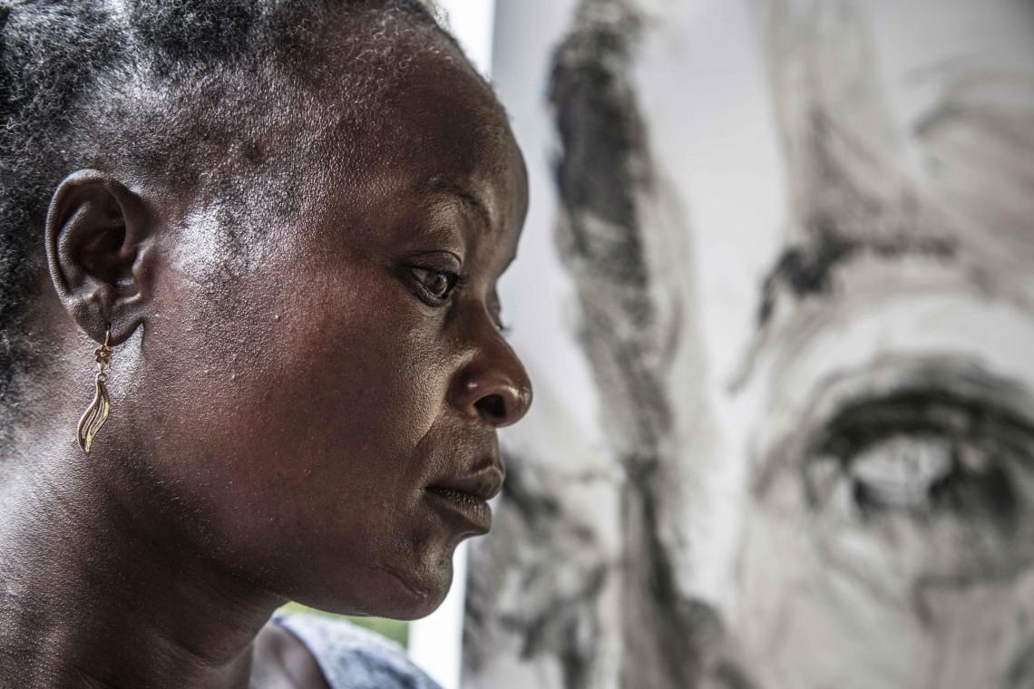 Clémentine, déplacée interne en République centrafricaine. Crédit : Birom SECK/CICR