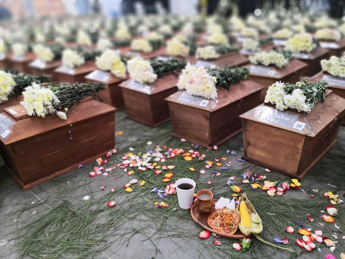 Hace un año 172 víctimas del conflicto armado en Guatemala recibían sepultura digna en Comalapa