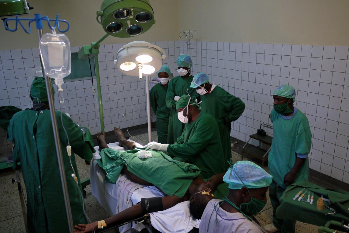 Le CICR soutient depuis des années le sevice de chirurgie de l'Hôpital général de Bukavu. Didier Revol/CICR