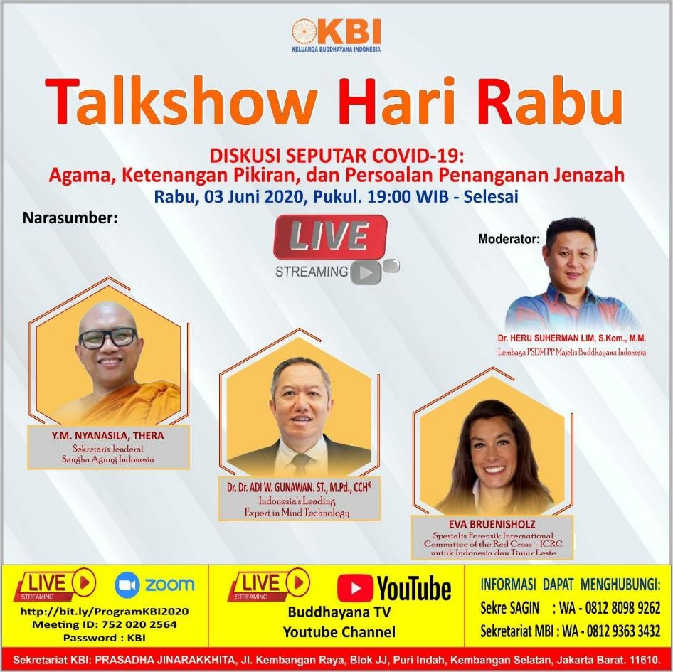In Indonesia, the ICRC participated in a talk show with Keluarga Buddhayana to address queries within the Buddhist community during COVID-19