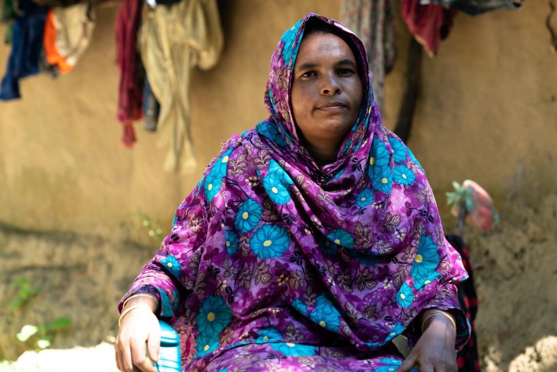 Momtaz Begum, a single mother of six children, struggles to make ends meet after the death ofer husband
