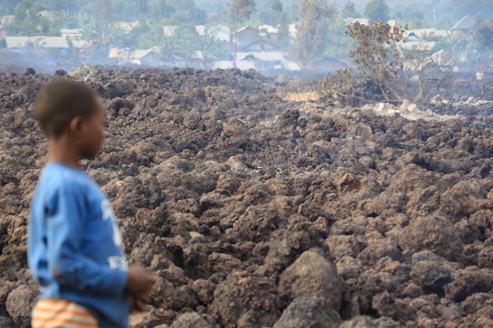 Notre réponse après l'éruption du volcan Nyiragongo. Tresor Boyongo / CICR