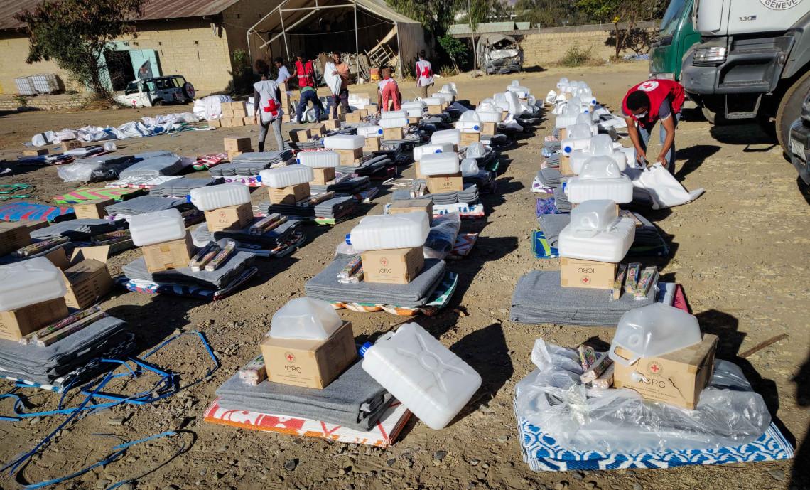 Aid distribution in Mekelle, in Ethiopia's Tigray region - ©Henok Birhanu/ICRC