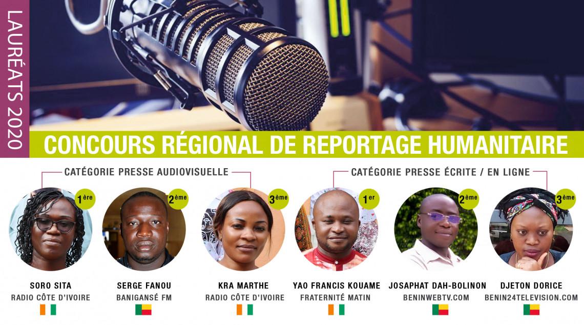 Côte d'Ivoire : des journalistes récompensés au concours régional de reportage humanitaire