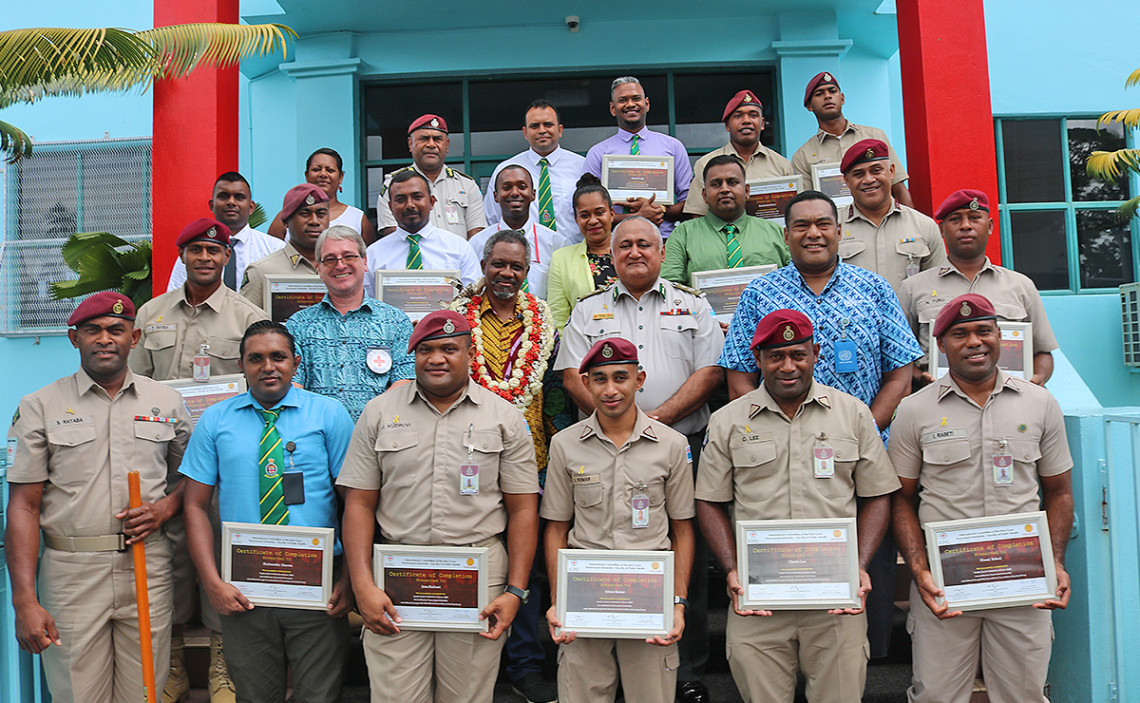 Fiji Corrections Staff graduate with certificates on healthcare in detention