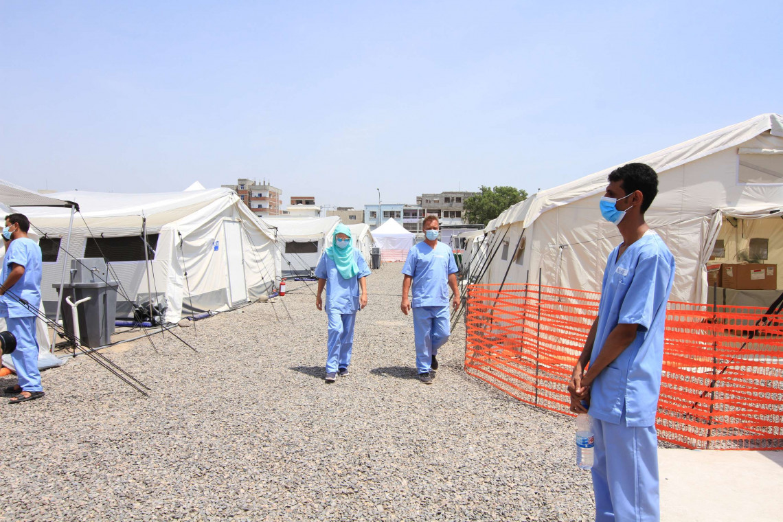 The Red Cross and Red Crescent family on 20 September opened a free treatment centre for COVID-19 patients in Yemen