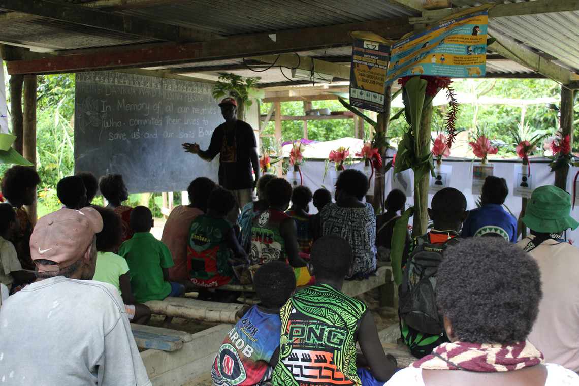 Bougainville: Families commemorating their missing relatives and the right to know about their fate