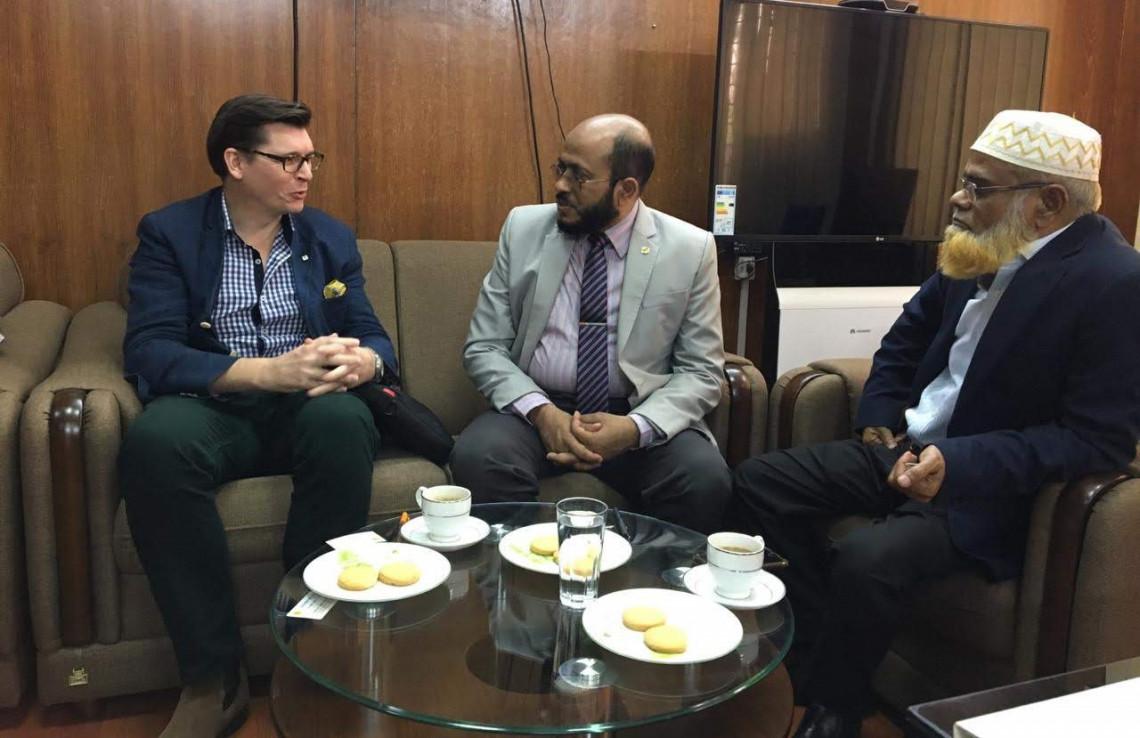The ICRC Bangladesh visits the Islamic Foundation