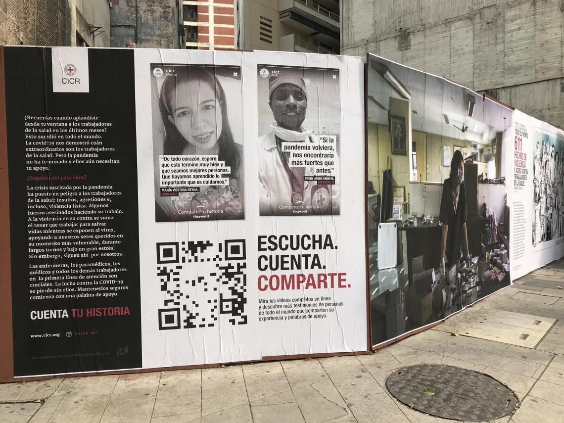 Exhibición de arte urbano en Ciudad de México, París, Dubái y Johannesburgo sobre las consecuencias de COVID-19