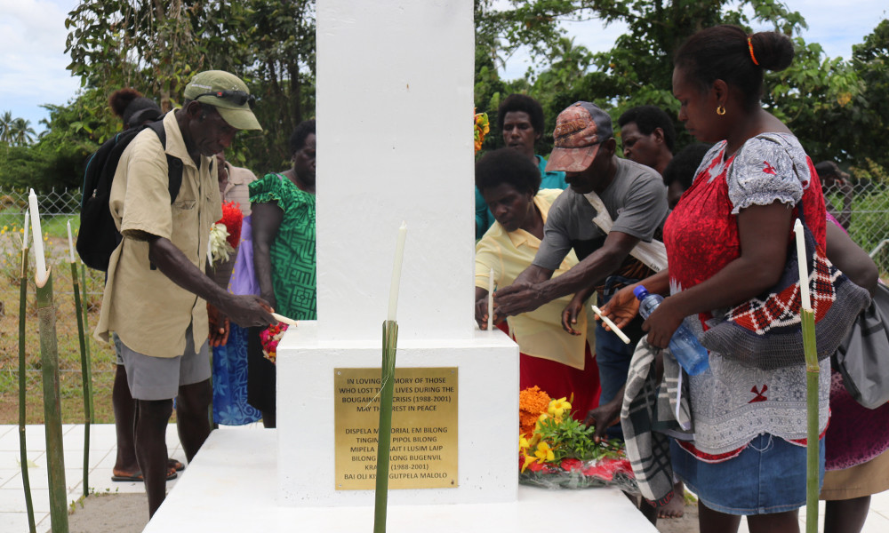 Monument to missing persons in Bougainville