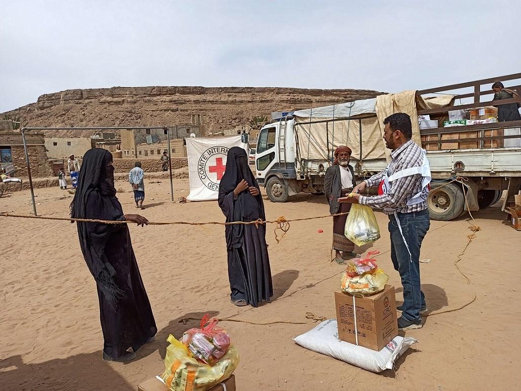 Nahrungsmittelverteilung in Saada, Jemen. April 2020/IKRK